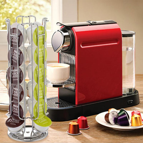 1 Pc Hot Iron Coffee Capsule Holder Racks Stand Display Kitchen Storage Shelf 24/32 Cups For Dolce Gusto