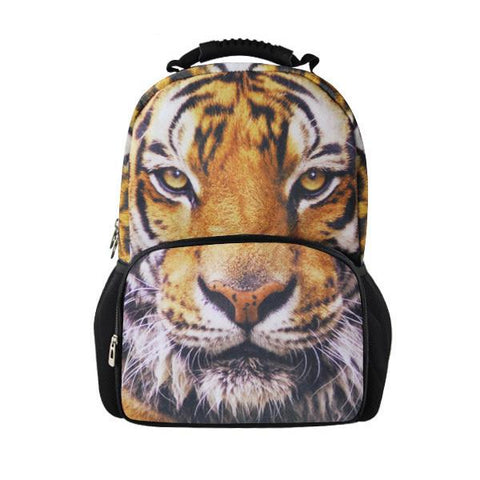 $59.82- Printing Women Backbag 3D Animal Backpack Cute Cat Owl Tiger Bagpack For Teenager Girls High School Children Student Rucksack