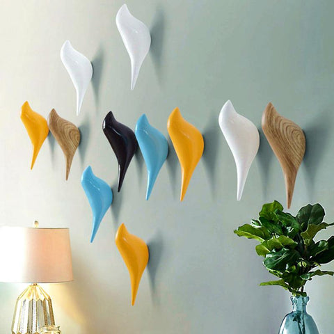 Resin Wall Coat Rack Home Wall Decoration Bird Rack