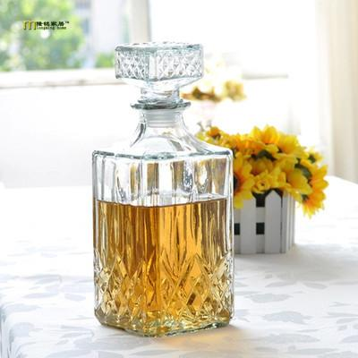$29.20- 1Pc Hot Luxury Lead Square Glass Wine Bottle Whiskey Decanter Alcohol Container Pourer Wine Carafe 800Ml Jr 1084