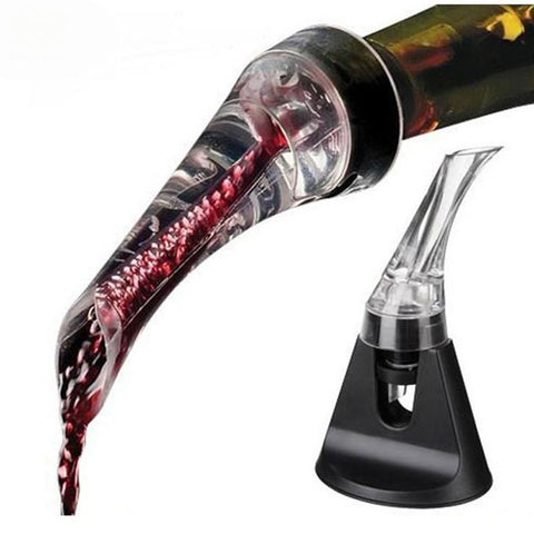 $13.40- 1Pc Acrylic Aerating Wine Pourer Decanter Red Wine Bottle New Portable Wine Aerator Pourer Wine Accessories