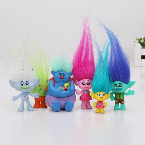 6Pcs/Set Trolls Action Toys Branch Critter Skitter Figures Trolls Children Trolls Action Figure Toy Cartoon Character