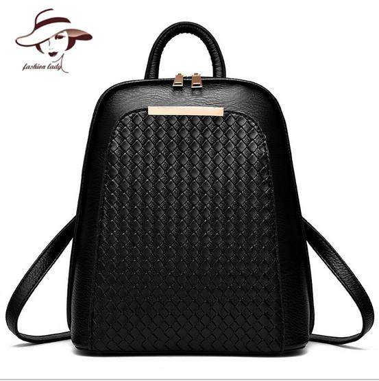$32.38- Vintage Casual New Style Backpack Leather High Quality Hotsale Women Candy Clutch Ofertas Famous Designer Brand School Bags