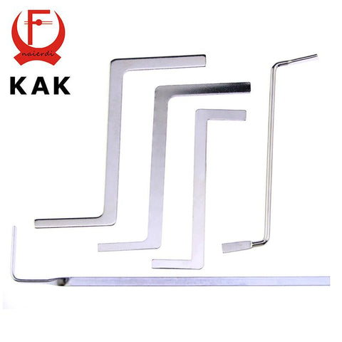 $2.77- Kak 5Pcs Locksmith Tools Stainless Steel Double Row Tension Tool Removal Hooks Lock Kit