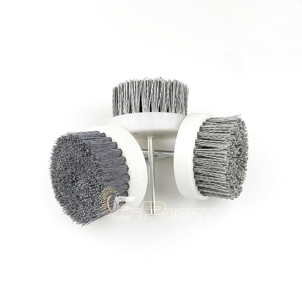 $46.78- 2 Pcs 80*35*6Mm Mounted Nylon Wire Brush Polishing Wheel P120 P240 P600 Wood Carving Furniture Drill Rotary Grinding Tool