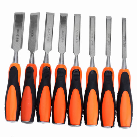 wood carving kit. 8pcs chisels set wood gouge flat chisel diy carpenter woodworking hand tool carbon steel carving tools kit 10mm/.393in-24mm