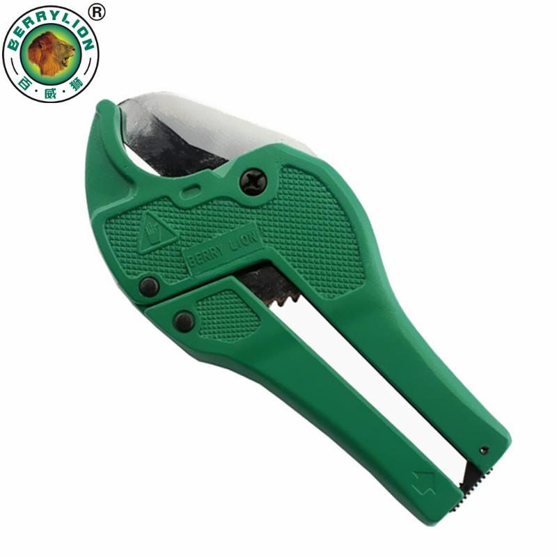$20.18- Berrylion 42Mm Plastic Pipe Cutter Pvc/Pu/Pp/Pe Hose Water Tube Scissors Aluminum Alloy Body Ratcheting Cutting Hand Tools