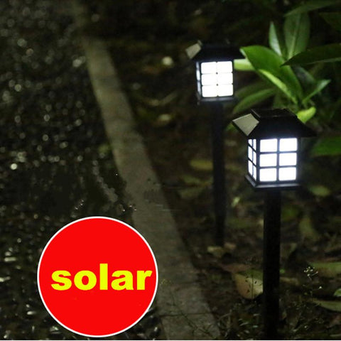 5Pcs Waterproof Cottage Style Led Solar Sun Light Outdoor Lawn Lamp For Landscape Garden Decoration Path Street Light