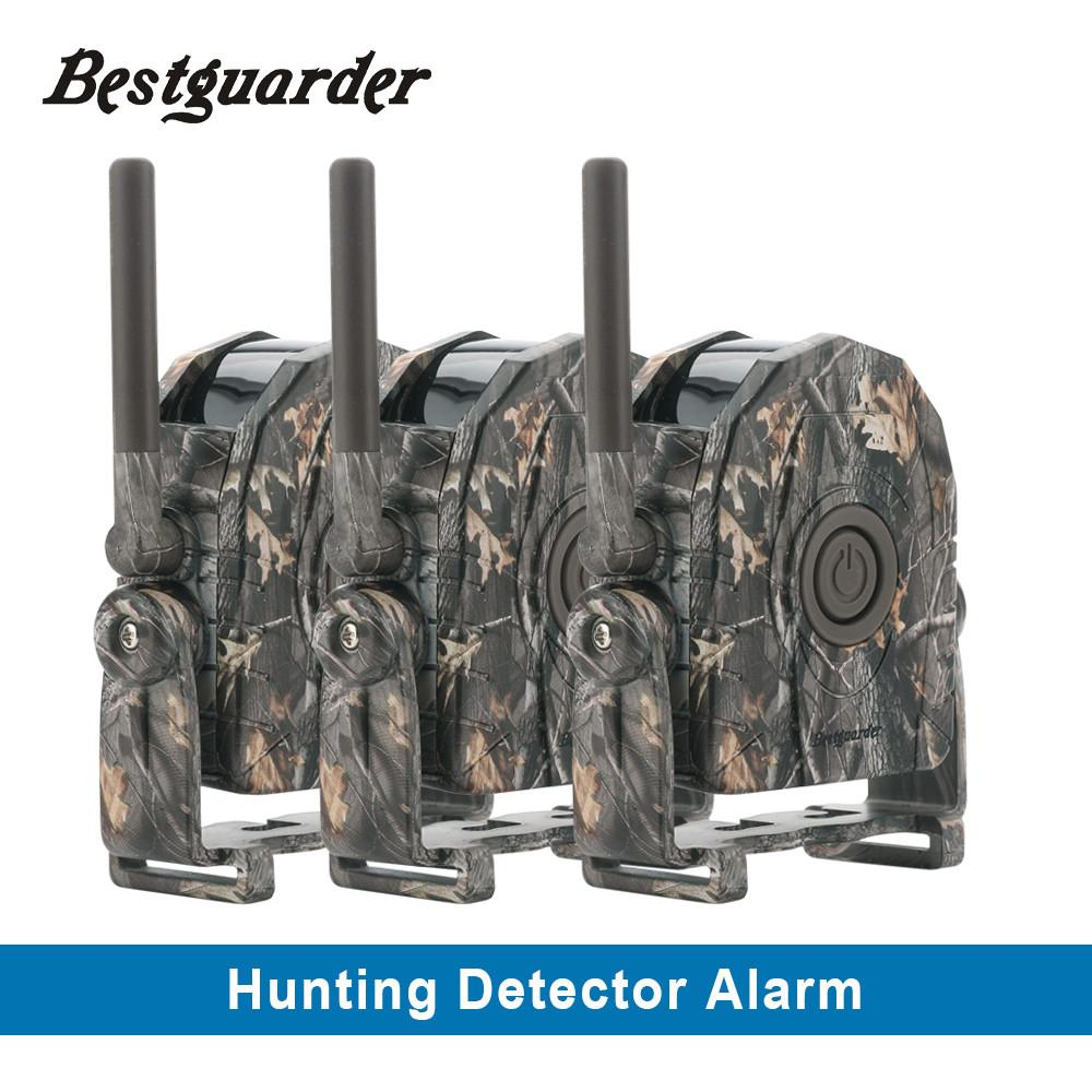 $170.37- Bestguarder Wireless Cordless Security Hunting Alarm System Sound Vibration Led Light For Hunter Animal Approaching Alarm System