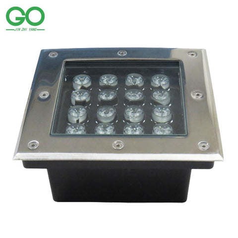 $221.95- Led Underground Lights 3W 4W 5W 6W 9W 12W 16W 24W 36W Square Inground Deck Wall Garden Path Buried Floor Stair Landscape Lamps