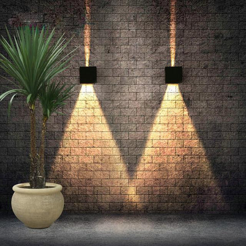 $210.83- 4 Pieces Ip65 White Black Box Style Hotel Modern Led Wall Sconce Indoor Outdoor Led Wall Light Square Up Down Led Wall Lamp