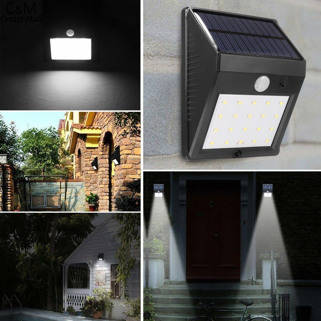 $79.39- 20 Led Solar Sun Lamp Motion Sensor Wall Mounted Outdoor Waterproof Garden Lawn Path Security Solar Sun Light &