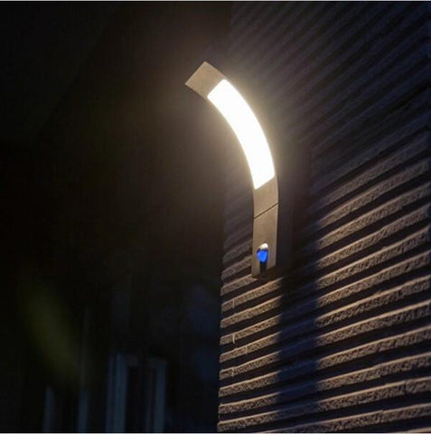 Outdoor Wall Lamp 6W Led Light W/ Pir Sensor Ip54 Sconce For Garden Villa Balcony Wall Lighting