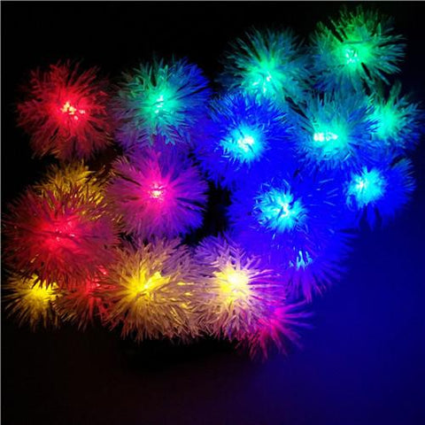 Novelty Solar Sun Snow Flakes Led Lamps Snowball String Lights For Holidays Wedding Parties Events Xmas Easter Christmas Decoration