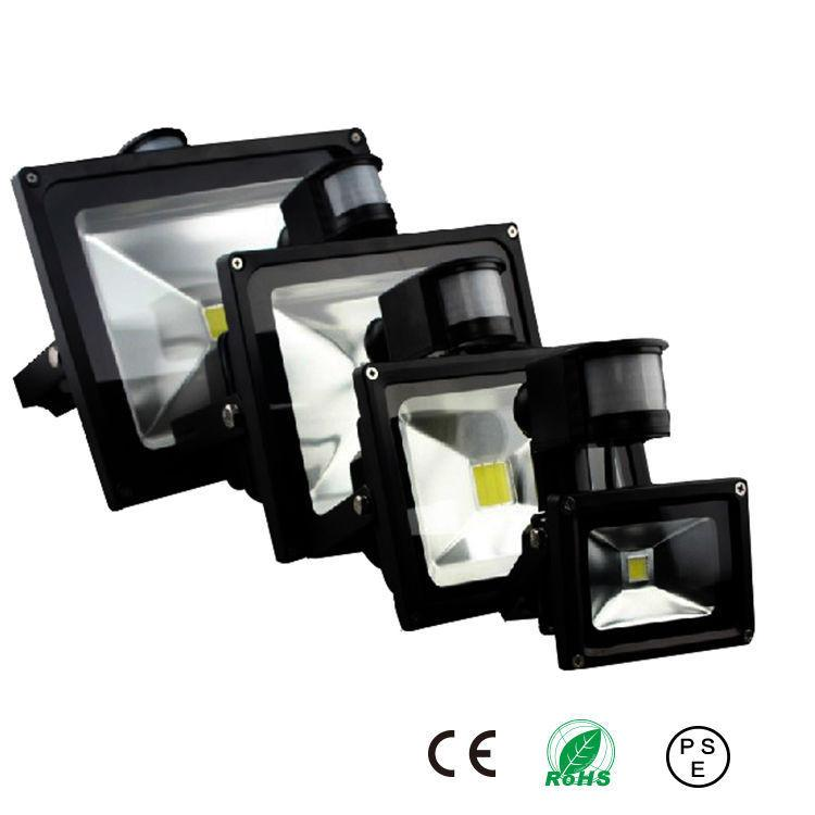 $26.64- Pir Led Flood Light Motion Sensor Outdoor Lighting 10W 20W 30W 50W Waterproof Ip65 Ac85256V Induction Sense Lamp Garden Light