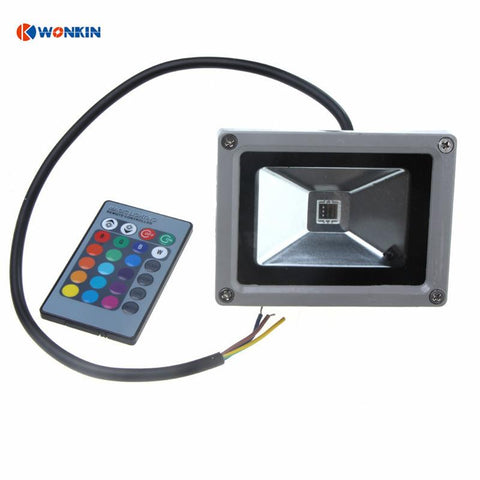 3Pcs 10W Rgb Led Flood Light Outdoor Garden Street Lighting Ac85V-265V+24Keys Controller