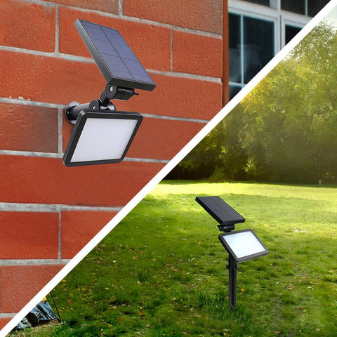 48led outdoor solar sun powered lawn lamp wall spotlight ip65 garden pathway landscape street waterproof light