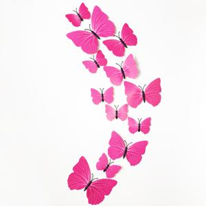 $2.24- 3D Wall Stickers Home Decor Butterflies Wall Sticker Kids Home Decoration Butterflies On The Wall Decals Wall Decoration