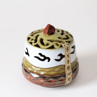 $66.69- Ceramic Incense Burner From China Taiwan Lucky Coil Incense Holder Ceramic Crafts Home Decoration Sandalwood Censer Cone