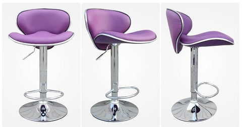 $377.65- Dining Hall Chair Restaurant Purple Color Stool Bar Coffee House Chair