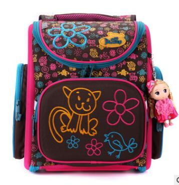 $86.07- Delune New European Children School Bag Girls Boys Backpack Cartoon Mochila Infantil Large Capacity Orthopedic Schoolbag