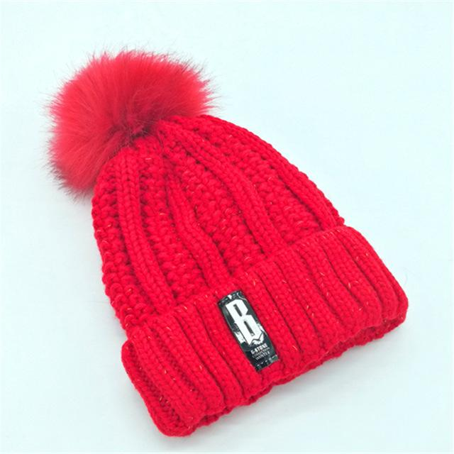 $10.55- women hat the hundreds Brand New HighQuality women winter mink The Ball ski rabbit hat pom poms knitted hats made of
