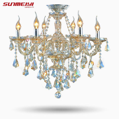 Top Fasion Tiffany Candle K9 Crystal Light Chandelier Lamp Lighting For Living Room Lights Foyer Lamps