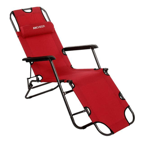 Homdox Outdoor Furniture 178Cm Desk Chair Longer Leisure Folding Beach Chair Stool Sling Recliner Camping Chairs Bed N15*