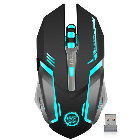 Rechargeable Wireless 2.4Ghz Led Backlit Mouse Usb Optical 6 Button Ergonomic Silent Gaming Mouse Gamer For Pc Desktop Laptop