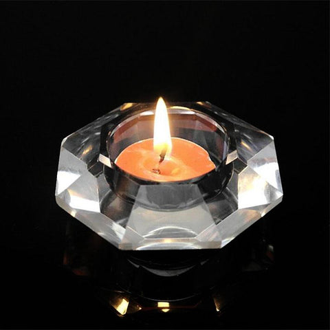 $12.31- Hc European Crystal Glass Candle Holder Candlestick Bar Cafe Party Wedding Home Christmas Decoration Candelabra Tealight Holder
