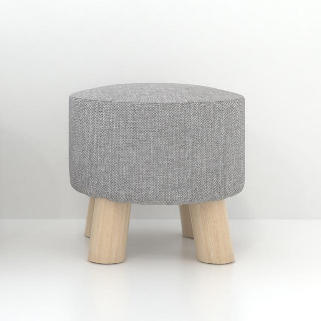 $134.84- Simple Modern Fashion Stool Wood Furniture Home Outdoor Stool Super Soft Lining Fabric Shoes Stool Living Room Footstool Chair