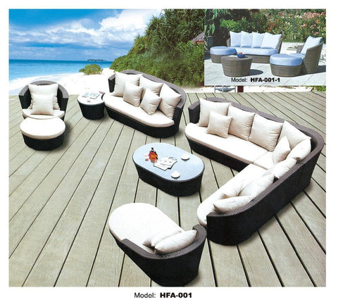 $2633.45- Large Size Outdoor Sofa Set New Design Garden Furniture Large Rattan Sofa Set Wicker Patio Set Outdoor Furniture Set 1013 Seat