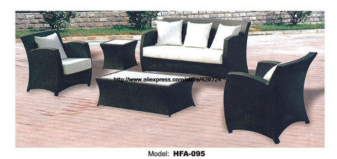 $1598.40- Rattan Chair Sofa Set W/ Outdoor Table Vine Garden Outdoor Patio Furniture Sofa Factory Direct Sofa Furniture Hfa095