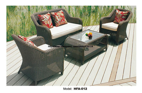 $1598.40- Outdoor Patio Furniture Sofa Table Ottoman Outdoor Table Rattan Sofa Set Garden Rattan Furniture Not Hammock Beanbag Hfa012