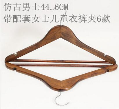 Sainwin 5Pcs/Lot 44Cm Men Hangers For Clothes Solid Wood Hanger SlipResistant Cothes Pegs Wooden Coat Suit Clothes Racks