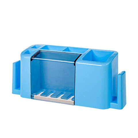 $14.17- Multifunction Toothbrush Holder Bathroom Accessories Organizer Wall Shelves 3 Colors Toothpaste Tool Storage Rack Egp059