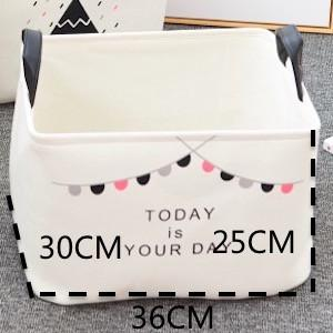 $41.78- Dunxdeco 1Pc Modern Nordic Hot Black Cloud Flag Artistic Home Office Storage Basket Table Toy Cloth Bathroom Organize Room Decor