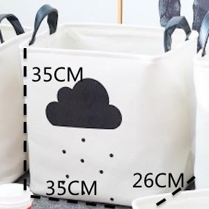 $45.98- Dunxdeco 1Pc Modern Nordic Hot Black Cloud Flag Artistic Home Office Storage Basket Table Toy Cloth Bathroom Organize Room Decor
