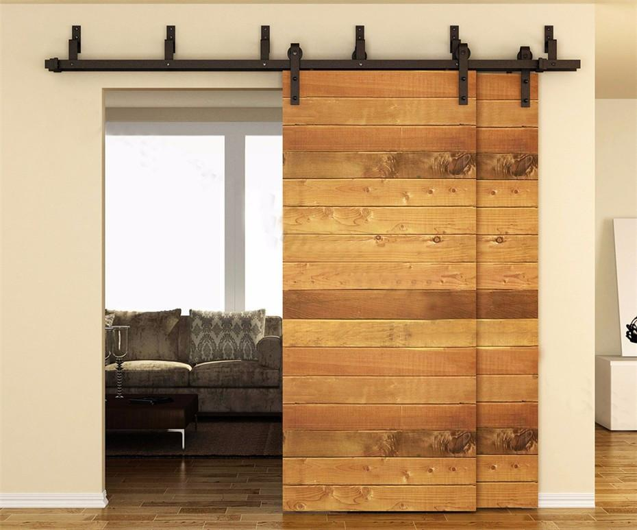 Buy American Style Interior Sliding Double Barn Door Hardware Bypass