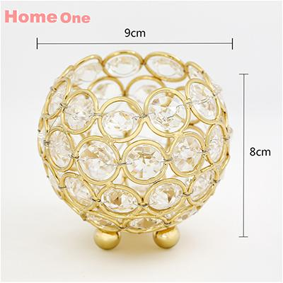 Gold Candle Holders 8Cm Crystal Ball Candlestick Candle Lantern Candelabra Home Decorative Wedding New Year Party Decoration