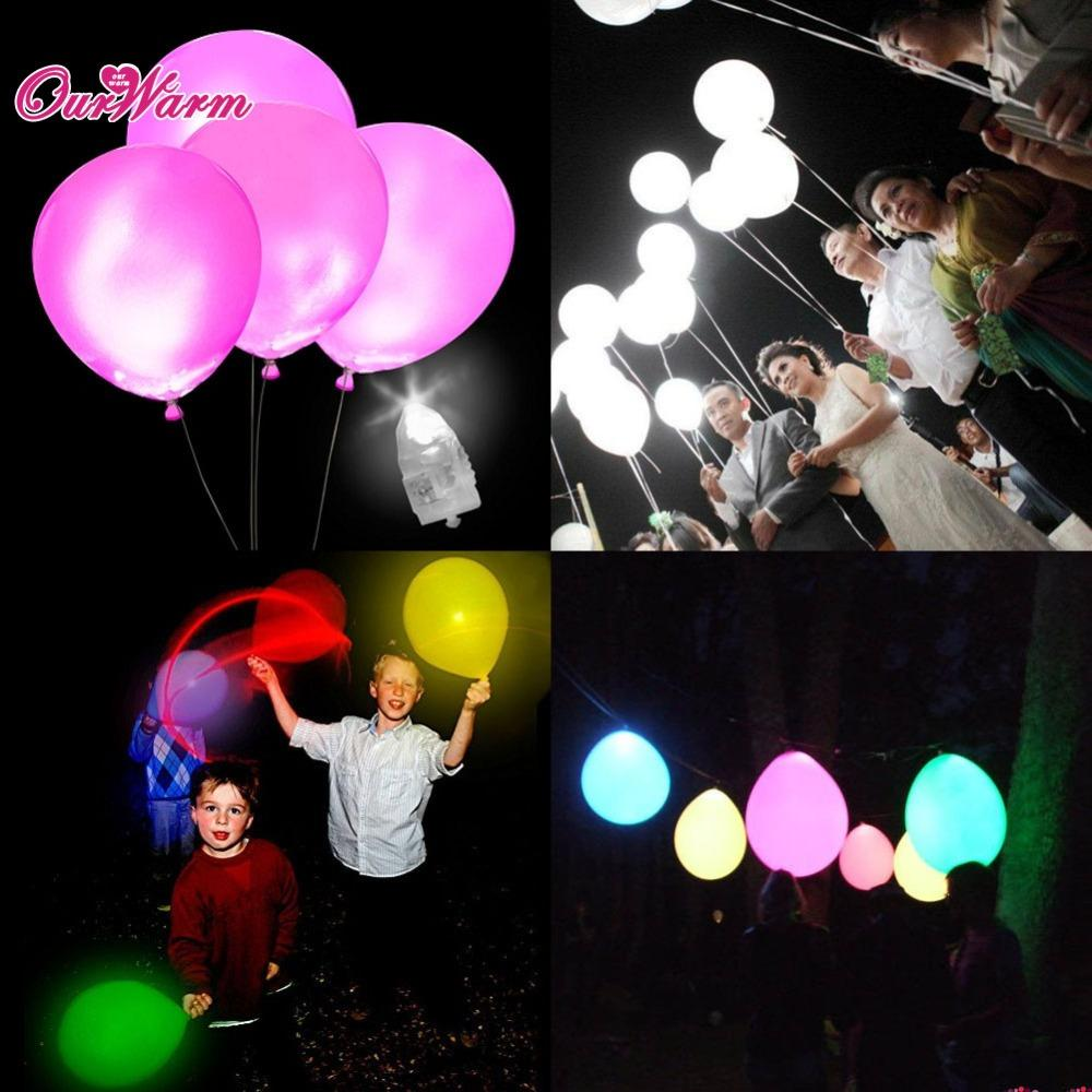 $18.03- 50Pcs/Lot White Led Lamps Balloon Lights Led Balloon Light For Wedding Decoration Birthday Party Product Event Party Supplies