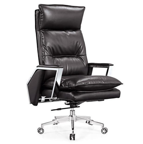 $2317.25- Gold Leather Boss Chair Can Lie At The Noon Hour Home Office Chair The Ergonomics Of Large Swivel Chair