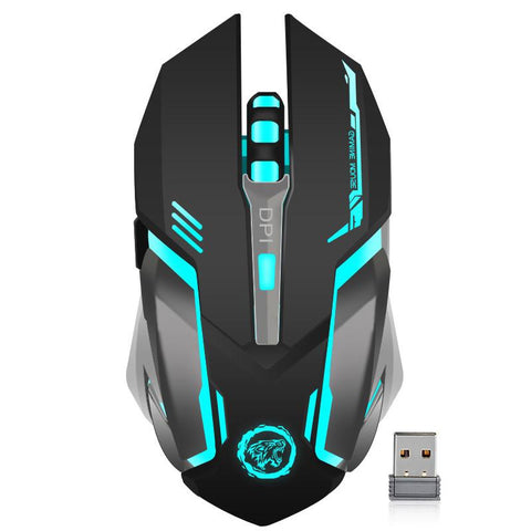 $23.18- Rechargeable Wireless 2.4Ghz Led Backlit Mouse Usb Optical 6 Button Ergonomic Silent Gaming Mouse Gamer For Pc Desktop Laptop
