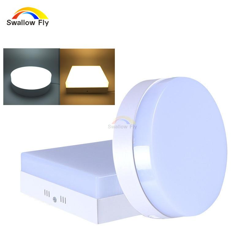 $40.32- 6W/12W/18W/24W Round/Square Led Panel Light Surface Mounted Downlight Lighting Led Ceiling Down Ac85265V Driver