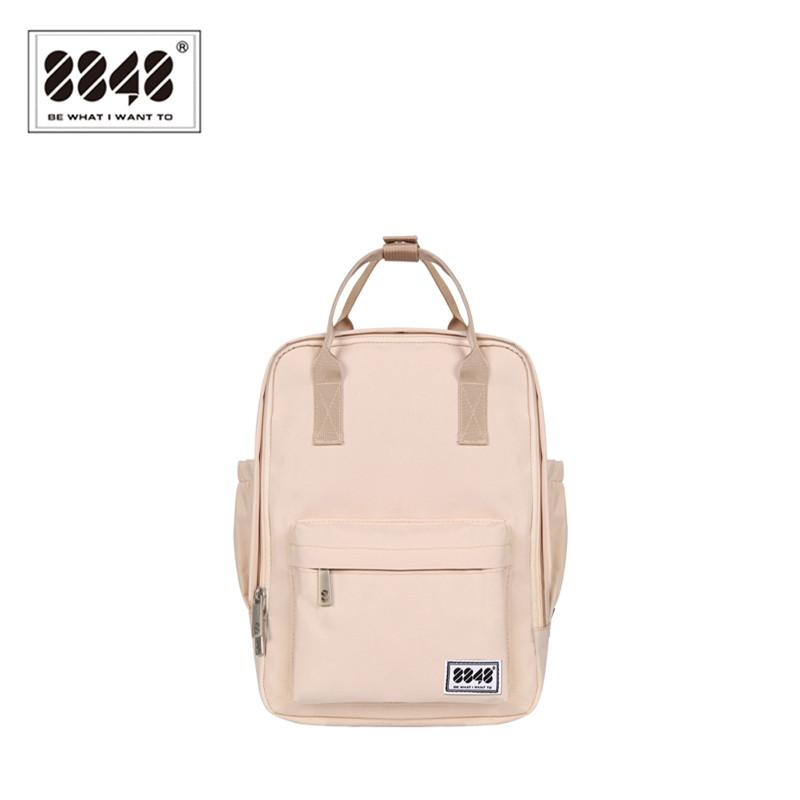 $40.48- 8848 Brand Backpack For Women Schoolbags For College Student Waterproof Oxford Fashion Light Pink Solid Knapsack 003008001