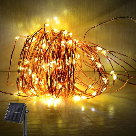 10M 100Leds Solar Sun Led Fairy String Lights Garland Christmas Led Solar Sun Lights Holiday Light For Wedding Party Outdoor Decoration
