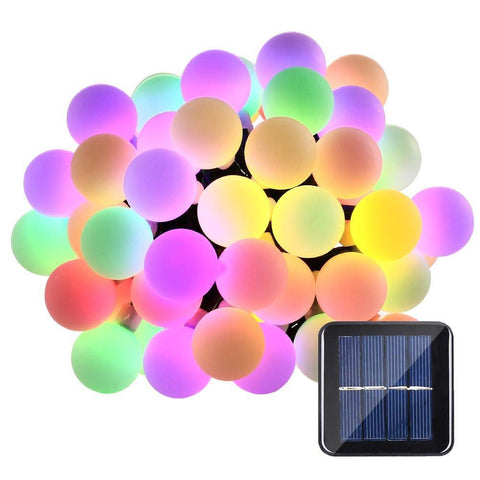 Solar Sun Globe 50 LED Ball String Lights Solar Sun Powered Christmas Light Patio Lights Lighting for Home Garden Lawn Party Decorations