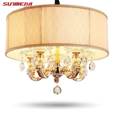 $254.37- Crystal Chandelier Living Room Lamp De Cristal Indoor Lights Crystal Pendants For Fixture Light Ceiling Chandeliers Lamp