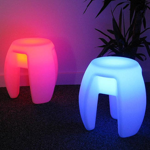 Outdoor Waterproof 40Cm Glowing Rechargeable Luminous Cube Led Coffee Bar Chair Barstools Remote Control 4Pcs/Lot