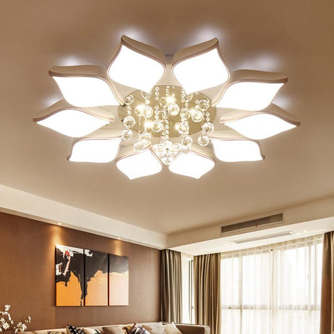 $58.05- Crystal Modern Led Ceiling Lights For Living Room Bedroom Ac85265V Lustre Lamparas De Techo Avize Crystal Ceiling Lamp Fixtures